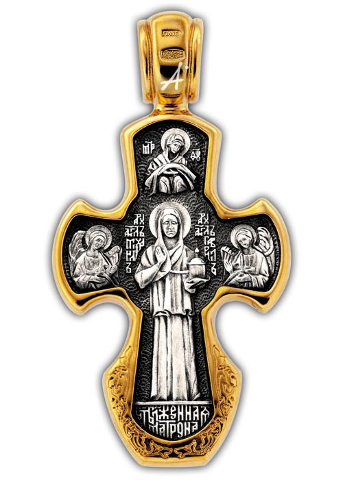 Крестик серебряный женский купить