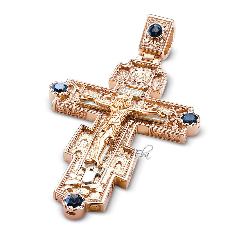 Золотые крестики мужские ручной работы